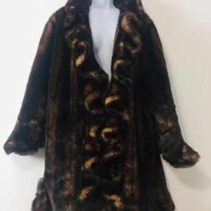 Animal Faux Fur Winter Coat